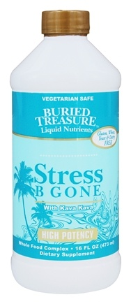 Buried Treasure Products - Stress B Gone with Kava Kava High Potency - 16 oz.