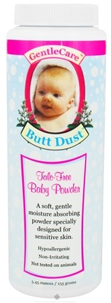 DROPPED: BNG Enterprises - Gentle Care Butt Dust Baby Powder Talc-Free - 5.45 oz.