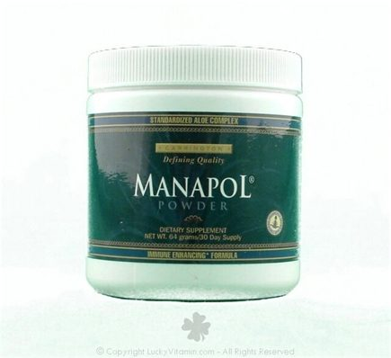 DROPPED: Carrington Laboratories - Manapol Immune Enhancing Powder with Beta Glucan