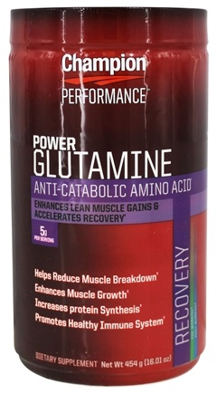 Champion Performance - Power Glutamine Anti-Catabolic Amino Acid - 16.01 oz.
