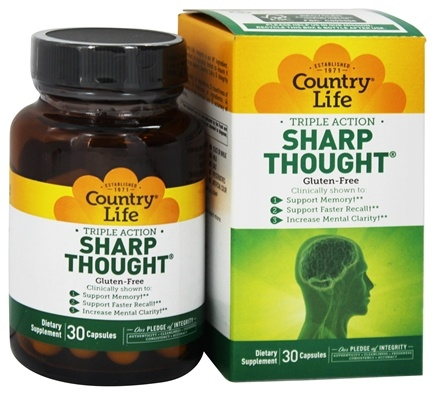 Country Life - Sharp Thought - 30 Capsules