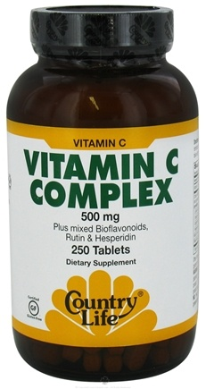 DROPPED: Country Life - Vitamin C-Complex 500 mg. - 250 Tablets