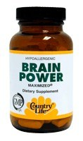 DROPPED: Country Life - Brain Power Maximized - 30 Tablets