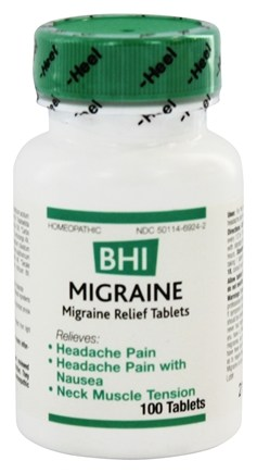 BHI/Heel - Migraine - 100 Tablets Formerly Headache II