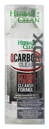 BNG Enterprises - Herbal Clean QCarbo20 Clear Extreme Strength Cleansing Formula Strawberry/Mango Flavor - 20 oz. with 5 Super Boost Energy Detox Tablets