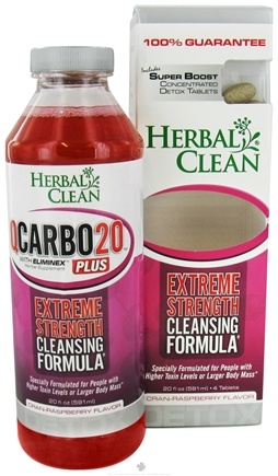 DROPPED: BNG Enterprises - Herbal Clean Qcarbo Detox Plus with Boost Cran-Raspberry Flavor - 20 Oz.