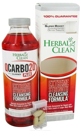 DROPPED: BNG Enterprises - Herbal Clean Qcarbo Detox Plus with Super Boost Strawberry- Mango Flavor - 20 oz.