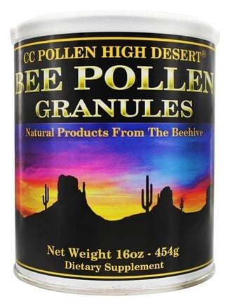 CC Pollen - High Desert Bee Pollen Granules Can - 1 lb.
