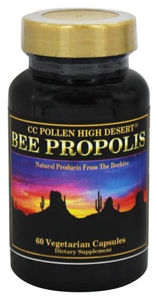 DROPPED: CC Pollen - High Desert Bee Propolis - 60 Vegetarian Capsules