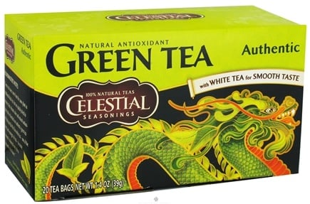 DROPPED: Celestial Seasonings - Authentic Green Tea - 20 Tea Bags CLEARANCE PRICED