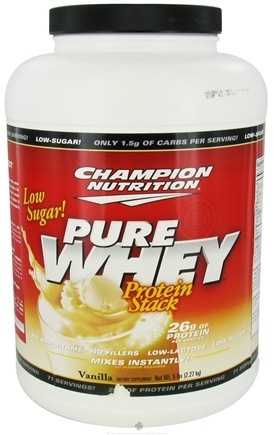 DROPPED: Champion Performance - Pure Whey Protein Stack Vanilla - 5 lbs.