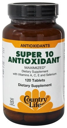Country Life - Super 10 Antioxidant Formula Maximized Family Size - 120 Tablets