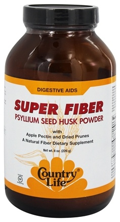 DROPPED: Country Life - Super Fiber Psyllium Seed Husk Powder - 8 oz.