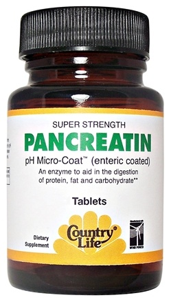 DROPPED: Country Life - Super Strength Pancreatin 1400 mg. - 50 Tablets