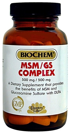 DROPPED: Biochem by Country Life - MSM Complex with Glucosamine - 90 Tablets