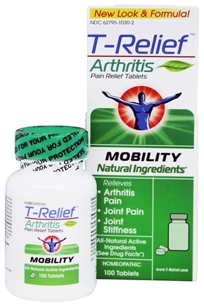 MediNatura - T-Relief Arthritis Mobility Pain Relief - 100 Tablets Formerly BHI/Heel Zeel Arthritis Pain Relief