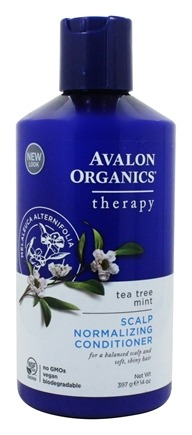 Avalon Organics - Conditioner Scalp Normalizing Therapy Tea Tree Mint - 14 oz. Formerly Conditioner Treatment