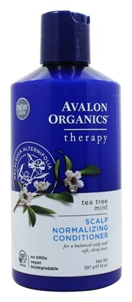 Avalon Organics - Shampoo Scalp Normalizing Therapy Tea Tree Mint - 14 oz. Formerly Shampoo Treatment
