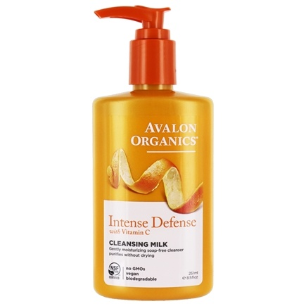 Avalon Organics - Vitamin C Renewal Hydrating Cleansing Milk - 8.5 oz. (Formerly Skin Nourishing Sun-Aging Defense)