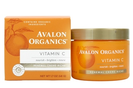 Avalon Organics - Vitamin C Renewal Facial Renewal Cream - 2 oz. (Formerly Skin Nourishing Sun-Aging Defense)