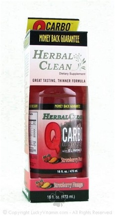 DROPPED: BNG Enterprises - Herbal Clean Qcarbo Fast Cleansing Drink Strawberry/Mango Flavor - 16 Oz.
