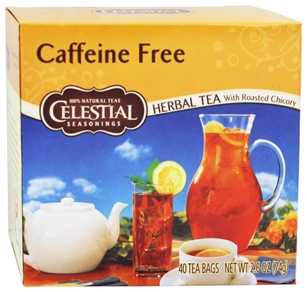 Celestial Seasonings - Caffeine-Free Herbal Tea with Roasted Chicory - 40 Tea Bags