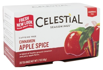 Celestial Seasonings - Cinnamon Apple Spice Herb Tea Caffeine Free - 20 Tea Bags