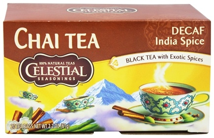Celestial Seasonings - Decaf Original India Spice TeaHouse Chai - 20 Tea Bags