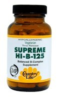 DROPPED: Country Life - Supreme HI-B-125 - 60 Tablets