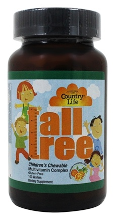 Country Life - Tall Tree Children's Chewable Multi-Vitamin and Mineral Complex Natural Orange & Pineapple Flavor - 100 Wafers