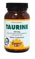 DROPPED: Country Life - Taurine with B-6 500 mg. - 50 Vegetarian Capsules
