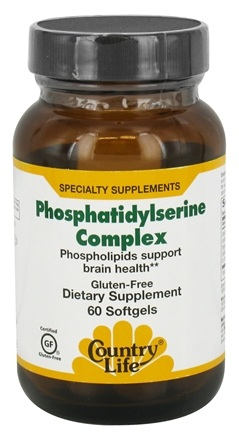 Country Life - Phosphatidylserine Complex - 60 Softgels Formerly Biochem