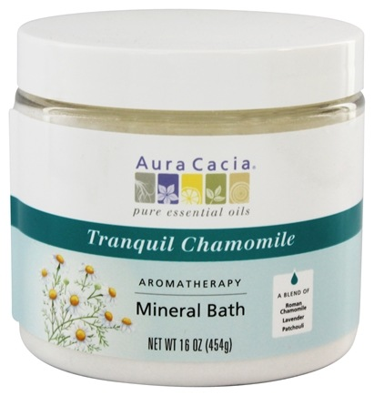 Aura Cacia - Aromatherapy Mineral Bath Tranquil Chamomile - 16 oz. (formerly Tranquility)