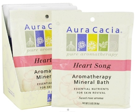 DROPPED: Aura Cacia - Aromatherapy Mineral Bath Heart Song - 2.5 oz. CLEARANCE PRICED