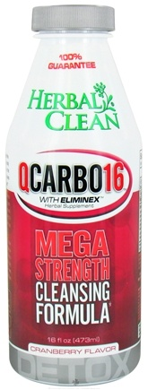 DROPPED: BNG Enterprises - Herbal Clean QCarbo16 with Eliminex Mega Strength Cleansing Formula Cranberry - 16 oz. CLEARANCE PRICED