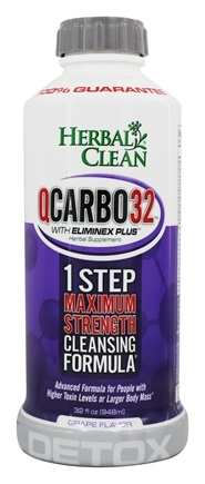 BNG Enterprises - Herbal Clean QCarbo32 with Eliminex Mega Strength Cleansing Formula Grape Flavor - 32 oz.