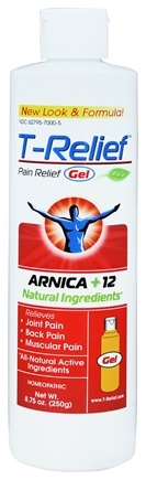 MediNatura - T-Relief Gel Arnica +12 Natural Ingredients - 8.75 oz. Formerly BHI/Heel - Traumeel Gel