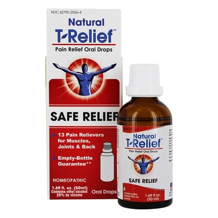 MediNatura - T-Relief Oral Drops Arnica +12 Natural Ingredients - 1.69 oz. Formerly BHI/Heel - Traumeel Pain Relief Oral Liquid