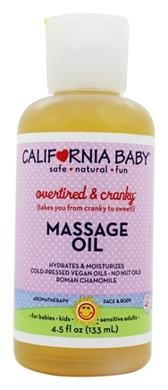 California Baby - Aromatherapy Overtired & Cranky Mommy & Daddy Oil Roman Chamomile - 4.5 oz.