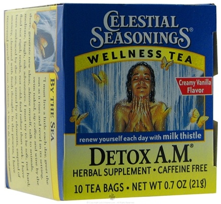 DROPPED: Celestial Seasonings - Detox A.M. Wellness Tea Caffeine Free - 10 Tea Bags