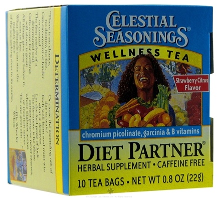 DROPPED: Celestial Seasonings - Diet Partner Wellness Tea Caffeine Free - 10 Tea Bags