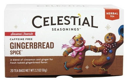 DROPPED: Celestial Seasonings - Gingerbread Spice Holiday Herb Tea Caffeine Free - 20 Tea Bags