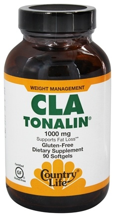 Country Life - CLA Tonalin 1000 mg. - 90 Softgels