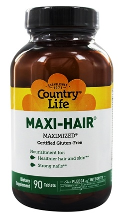 Country Life - Maxi-Hair Maximized - 90 Tablets