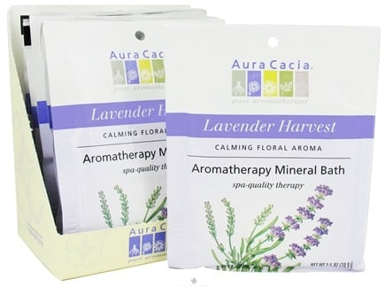 DROPPED: Aura Cacia - Aromatherapy Mineral Bath Lavender Harvest - 2.5 oz. CLEARANCE PRICED