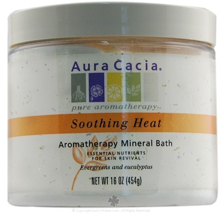 DROPPED: Aura Cacia - Mineral Bath Sooth Heat - 16 oz. CLEARANCE PRICED