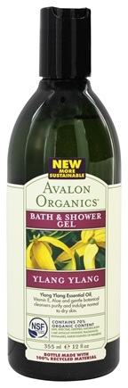 DROPPED: Avalon Organics - Bath & Shower Gel Ylang Ylang - 12 oz.