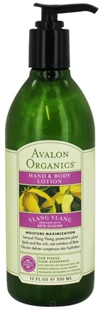 DROPPED: Avalon Organics - Hand & Body Lotion Ylang Ylang - 12 oz.