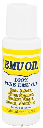 DROPPED: BNG Enterprises - Natural Treasures 100% Pure Emu Oil - 2 oz. CLEARANCE PRICED