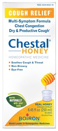 DROPPED: Boiron - Chestal Honey Homeopathic Cough Syrup - 8.45 oz.